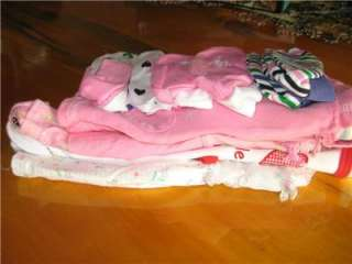 Lot of Baby girl clothes, great items 0 3 3 6 mos. various name