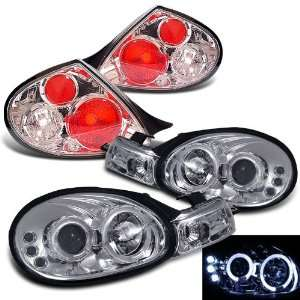 Dodge Neon Twin Halo LED Projector Head Lights+tail Lights Brand New