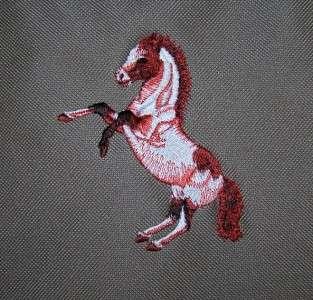 Mustang Horse Custom Monogram Embroidery Large Zipper Tote Bag