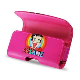 APPLE iPHONE/2G/3G/S/4/4S PINK BETTY BOOP LEATHER CASE POUCH COVER w