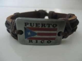 Handmade Unisex Leather Wristband Bracelet Cuff Band Flag Souvenirs