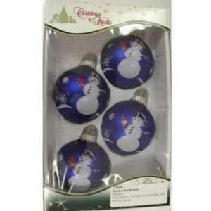 Christmas By Krebs #TS730121A 4PK Snow Globe Ornament