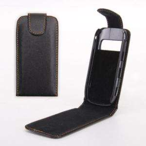 Black Flip Leather Case Cover Punch For NOKIA C7/C 7