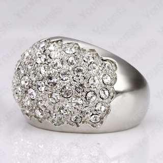 Dazzling 18K White Gold Plated Multi Noble Swarovski Crystal Charming
