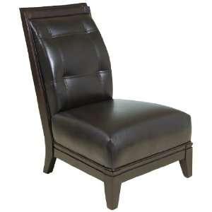 Georgio Brown Bonded Leather Armless Chair