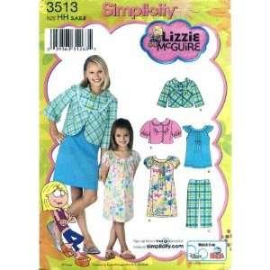 Simplicity 3513 Sewing Pattern Lizzie McGuire Girls Jacket