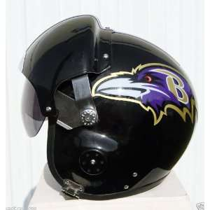 Ravens Fighter Pilot Helmet   NFL Football USAF Motorcycle   S M L XL