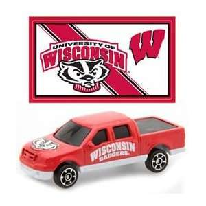 of Wisconsin Badgers Die Cast Ford F 150 with Sticker Toys & Games