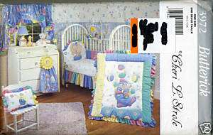 Circus Baby Room Quilt Home Dec Sewing Pattern Butterick 3972