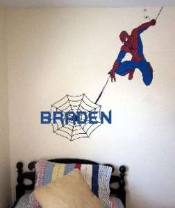 Spiderman Vinyl wall sticker decal   accent bedding