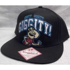 Giggity Embroidered Snapback Black Baseball Cap/HAT