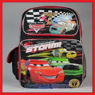 16 Disney Pixar Cars Backpack  McQueen School Boys Bag
