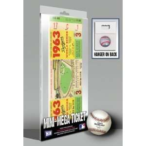 Los Angeles Dodgers 1963 World Series Game 3 Mini Mega Ticket