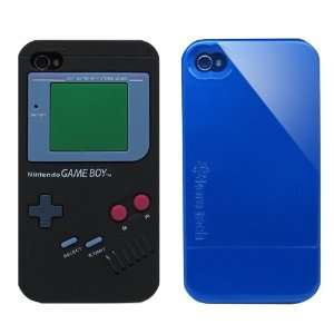 2pcs Set Nintendo Game Boy Silicone Case Black + KoreTech (TM) Glider