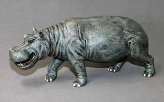 INCREDIBLE HIPPOPOTAMUS BRONZE HIPPO ART SCULPTURE FIGURINE by Barry