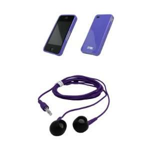 Purple Skin Cover Poly Case + 3.5mm Stereo Purple