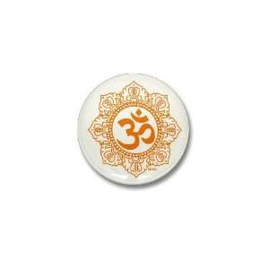 OM   OHM   AUM SYMBOL Religion Mini Button by CafePress