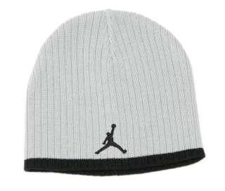 Nike Jordan Jumpman Logo Gray Knit Beanie Skull Cap Boys 8 20 NWT