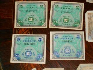 France French Francs 5807 Total 39 Banknotes 5000,500,100,50,10,5,2 No