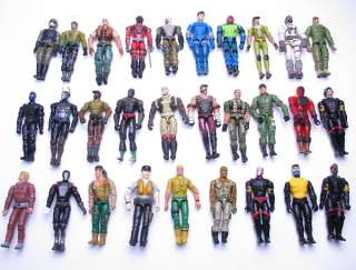 Lot 10 GI JOE Cobra 3.75 Action Figure Figures w/20 pcs weapons