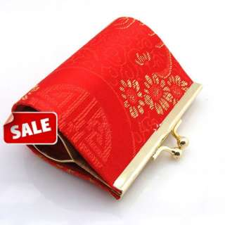 wholesale 100pcs ladys chinese silk coin purses/bags