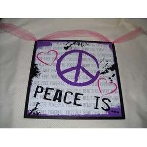 Peace Is Free Beautiful Girls Bedroom Wall Art Signs