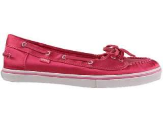 NEW VANS WOMENS 11 ABBY SHOES BOAT HOT PINK SATIN