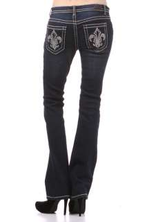 PLUS SIZE WOMENS JEANS BOOT CUT RHINESTONE POCKET SOFT AND COMFORTABLE