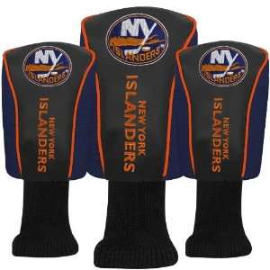 New York Islanders Black 3 Pack Golf Club Headcovers