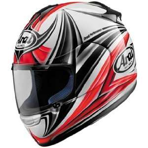Full Face Motorcycle Riding Race Helmet   Dynamic Red Automotive