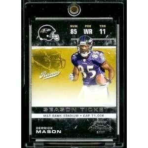 2007 Playoff Contenders # 10 Derrick Mason   Baltimore Ravens   NFL