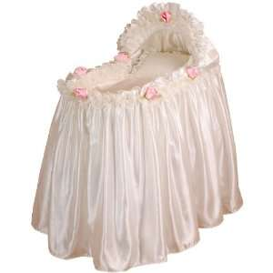 Baby Doll Bedding Rosey Bassinet Set, Pink Baby