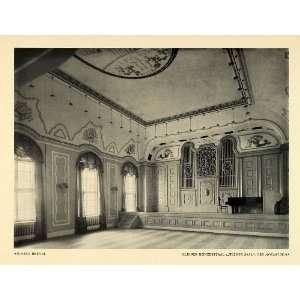 1915 Print Weiner Concert Hall Mozarteum Building Salzburg