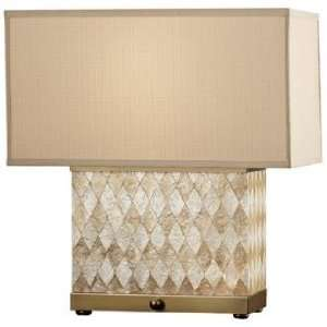 Nevena Collection Harlequin Natural Shell Table Lamp: Home