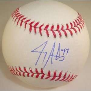 Jerry Sands Signed MLB Baseball w/coa L.A. Dodgers B