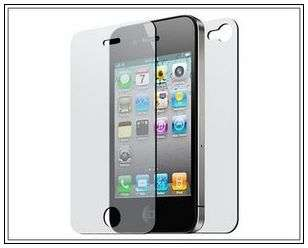 on 3 Piece Rubber Hard Case for iPhone 4 4S Front&Back screen protect