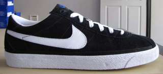 Nike Zoom Bruin SB Black Low Black White Blue Suede gum canvas high