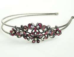 H229 Rhinestone Headbands Butterfly Flower Hair Bands Crystal Head