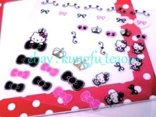 Sanrio HelloKitty Crown Lace Heart Nail Art Stickers Decorate  JAPAN