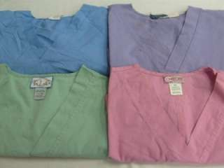 Medical Dental Vet Scrubs Lot Solid Color Shirts Tops 2XL XXL 2X HEIGL