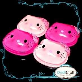 pcs) Mix Pink Resin Bow Hello Kitty Cat Flatback Scrapbooking Card Kit