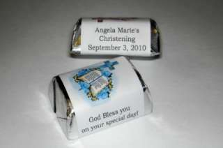 120 BAPTISM CHRISTENING CANDY WRAPPERS PARTY FAVORS