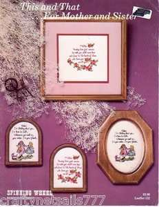 This and That for Mother and Daughter Cross Stitch Book Used/Pre Owned