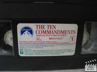 Ten Commandments, The * VHS Charlton Heston 097360652437