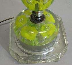 Tall 34 St. Clair Mid Century Modern Art Glass Lamp