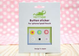 Button Decal Stickers For iPhone 3G 3GS 4 4S iTouch iPad M360