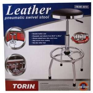 Torin Leather Pneumatic Swivel Stool