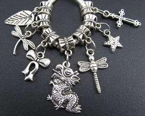 Wholesale Lot Mix 100PCS Tibetan Silver Charms Beads Fit European