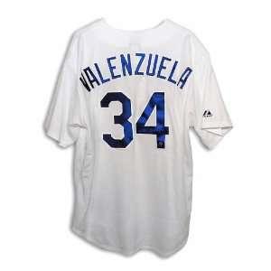 Autographed Fernando Valenzuela Los Angeles Dodgers White