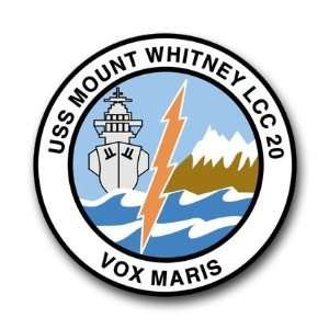 US Navy Ship USS Mount Whitney LCC 20 Decal Sticker 3.8